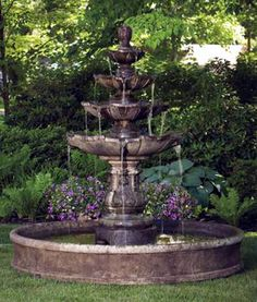 Proudly Constructed In The USA From Premium Cast Stone Concrete. The  Classic Four Tier Garden Fountain On Pool Is A Great Water Feature To Add  For Those ...