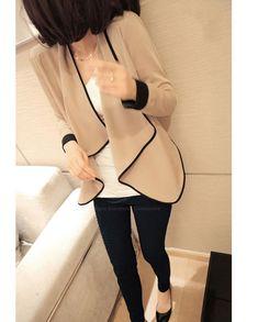 Apricot Chiffon Jacket <3 www.rosegal.com