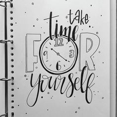 Take time for yourself!