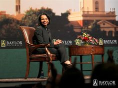 Condoleezza Rice at #Baylor University, Nov. 2011, as a guest of President Ken Starr