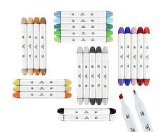 24 Professional Sketch markers with blender marker