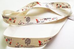 Amazon.com - Fabric Ribbon Pack of 3 or 5 Meter Cotton 20mm Cute Lace 3 different Designs (Red riding hood, 5 Meter)