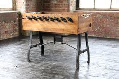 Industrial Vintage Football Table by Wheresaintsgo on Etsy