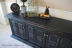 Classy Clutter: Classic Black Buffet Makeover
