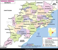 awesome Map of Orissa