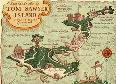 Disneyland Tom Sawyer Island Map 1965. Back before the pirates took over. by Drive-In Mike   on Flickr