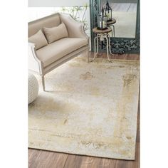 Chartres Hand-Woven Sand Area Rug by Lark Manor