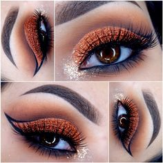 love The Outline of the winged eyeliner the eyeshadow is pretty too