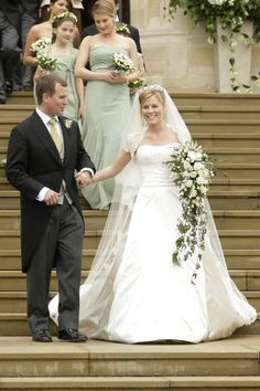 Peter Phillips, son of Princess Anne wed Autumn Kelly. They married on 17 May 2008 at St George's Chapel in Windsor Castle.