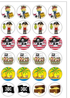 Other Cake Decorations & Cake Toppers Pirate Birthday, Pirate Theme, Paper Cupcake, Cupcake Cakes, Shark Party, Bottle Caps, Rice Paper, Cake Toppers, Cake Decorating
