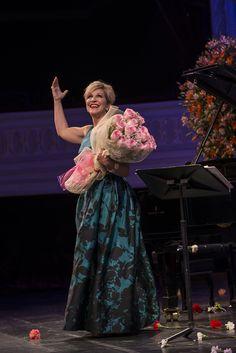 Joyce DiDonato junto al pianista David Zobel. Espectáculos Extraordinarios. Foto: Patricio Melo.