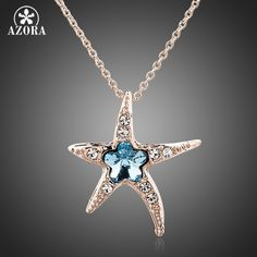 We think this is going to be a hit! New to our store, the Starfish with Blu... Check it out here! http://maxvaluestore.com/products/starfish-with-blue-wintersweet-rose-gold-color-stellux-austrian-crystal-pendant-necklace?utm_campaign=social_autopilot&utm_source=pin&utm_medium=pin