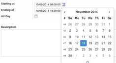 New responsive widget for the date picker