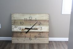 Large FARMHOUSE Clock Rectangular. 36 by 26 Rustic by terrafirma79
