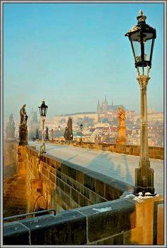 Prague Castle from bridge Prague Castle, Tours, Explore, Walks, Photographers, Bridge, Loft, Exploring, Bro