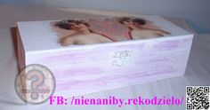 White & pink decoupage casket by NieNaNiby