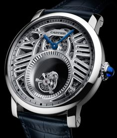The new Cartier Rotonde De Cartier Mysterious watches for SIHH 2018 with images, price, background, specs, & our expert analysis. Men's Watches, Cool Watches, Cartier Watches, Fine Watches, Wrist Watches, Custom Design Shoes, Expensive Watches, Hand Watch, Luxury Watches For Men