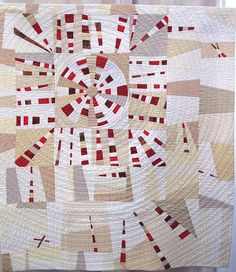 Vortex Redux by Jackie Benedetti Circle Quilts, Strip Quilts, Quilt Blocks, Children's Quilts, Quilting Projects, Quilting Designs, Quilting Ideas, Low Volume Quilt, Dresden Plate Quilts