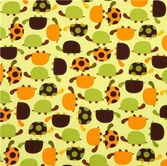 Bonita tela de tortugas verdes por Robert Kaufman: Amazon.es: Hogar