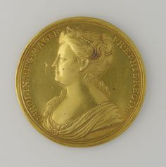 John Croker (1670-1741)  Medal commemorating the Coronation of Queen Caroline.  1727 RCIN 443221