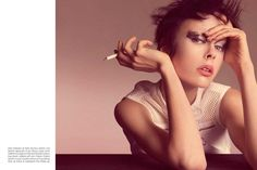 Vogue Italia ▪ April 2013 ▪ White Mischief ▪ Photographer: Steven Meisel ▪ Stylist: Karl Templer ▪ Model: Edie Campbell ▪ Hair Stylist: Guido Palau ▪ Makeup Artist: Pat McGrath ▪ Manicurist: Jin Soon Choi