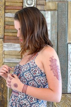 Flash Tattoo Henna 4er Set mit 35 wunderschönen Motiven - Arabic Henna Tattoos…