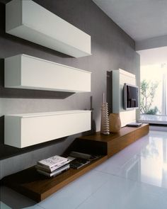 meuble télé design en blanc