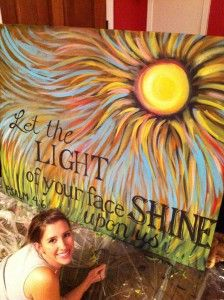 sunshine painting. love it. Think I can recreate this?