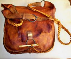 RESERVED for mcnabTHEape Mountain Man ELk Hide Possibles Bag