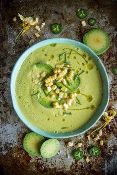 corn and avocado soup