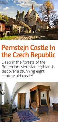 Pernstejn Castle in the Czech Republic - One of the most beautiful castles in the Czech Republic this eight century old castle is hidden deep in the Bohemian-Moravian Highlands. Visit and let us celebrate our 100 years together! European Destination, European Travel, Travel Europe, Countries To Visit, European Countries, Prague Travel, Us Travel Destinations, Beautiful Castles, Central Europe