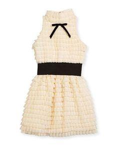 97dde19d846 Gia Halter Ruffle Bubble Dress Size 7-16