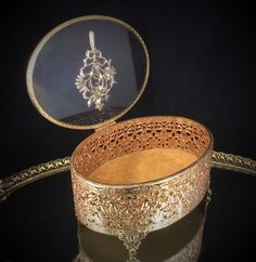 A personal favorite from my Etsy shop https://www.etsy.com/listing/250980939/antique-jewelry-box-beveled-glass