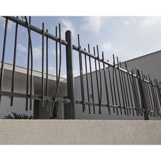 Clôture barreaudée Exalt linea en acier, Haut. 120 x larg. 186 cm