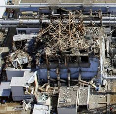 The mangled remains of the No. 3 reactor building at the Fukushima No. 1 power plant are shown on March 24, 2011, after a massive hydrogen explosion.