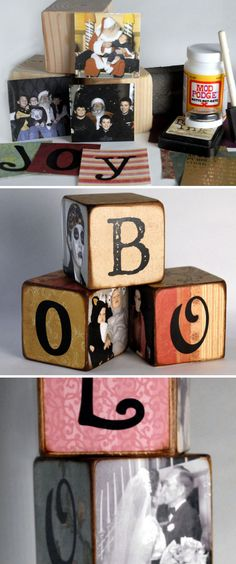 Letters & Photos Block #regalos #2016 #trends #original #regalos #originales #amigo #invisible http://www.regaletes.com/