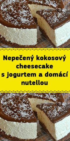Luxury Food, Nutella, Tiramisu, Cheesecake, Food And Drink, Low Carb, Sweets, Cooking, Ethnic Recipes