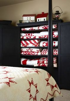 Ahhtheres nothing like a red and white quilt…After seeing this photograph taken of my guest bedroom from the American Patchwork &…