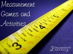 The ability to estimate and measure are important skills for every day life and many professions. Find measurement games and activities for all ages.