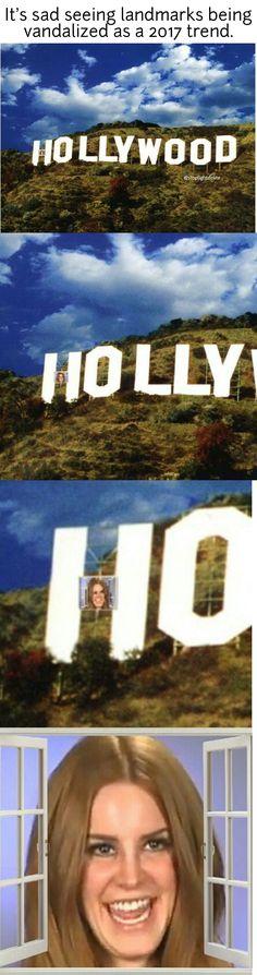 Lana Del Rey meme #LDR #Hollywood #Lust_For_Life lol