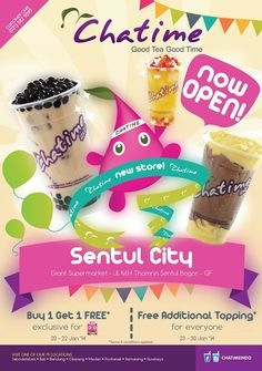 Aw..the color combination is good !! Promo-Chatime-di-Sentul-City