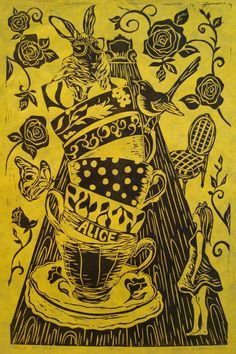 Alice In Wonderland Tea Party Large Print By AlexisLymanPrints