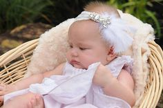 White lace feather crystal baby headband. Hey, I found this really awesome Etsy listing at https://www.etsy.com/listing/240272063/white-lace-crystal-and-feather-baby-girl