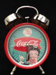 Coca Cola Betty Boop Old School Clock