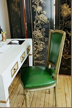 for the home office #green #chair #screen