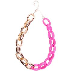 Cherry Two Colour Chain Necklace ($12) ❤ liked on Polyvore