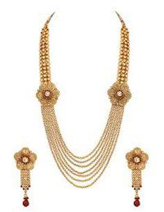 Gold long necklace pattern
