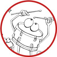 Week 19 - Adorable Coloring pages of various instruments - use for teaching about orchestra