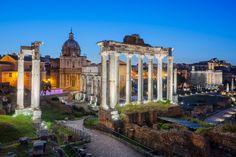 Ruins of Forum Romanum - Ruins of Forum Romanum on Capitolium hill in Rome, Italy