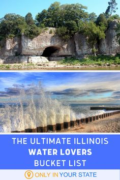 Discover eight water attractions in Illinois for your bucket list. Check out what makes these natural attractions the best in the state. Dream Vacation Spots, Vacation Places, Dream Vacations, Places To Travel, Places To See, Starved Rock State Park, Best Bucket List, Waterfall Hikes, Hidden Beach